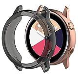 MOTONG for Samsung Galaxy Watch Active Transparent TPU Protective Case - MOTONG TPU Protective Case Cover Shell for Samsung Galaxy Watch Active SM-R500(TPU Black)