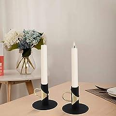VINCIGANT Black Candle Holder with Handles,Candld Holder for Taper Candles,Table Decoration Dinner Wedding Party(4pcs) #1