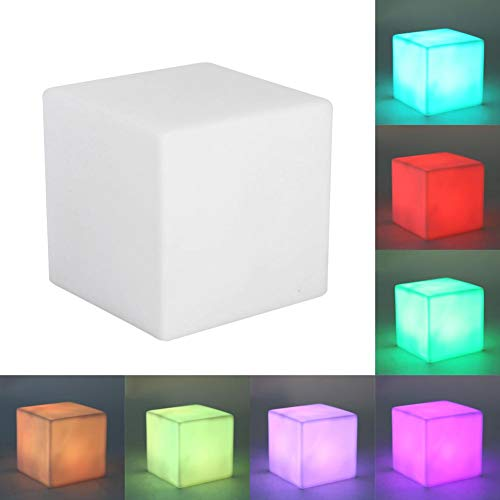 4.5V LED Color cambiante Mood Cube Night Light Lámpara de mesa Gadget Home Party Decoration Art Light para el hogar Sala de estar Dormitorio Mesa Tienda