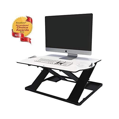 Posturite Opløft Stehtisch und Monitorarme Opløft Desk weiß