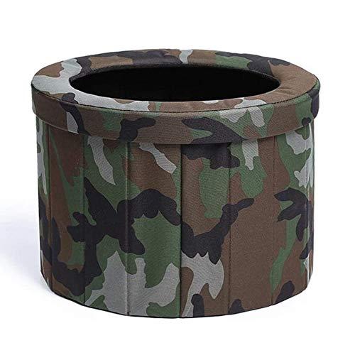 Plegable WC portátil, con 12 Limpieza Bolsas, fácil de Llevar, Lavable, Resistente, multifunción, Aseo para Camping, excursiones, Viajes Largos, Embotellamiento, Ancianos,A
