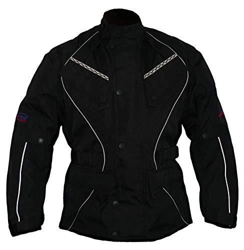 Protectwear Chaqueta de moto, chaqueta textil WCJ-101, negro Talla 46 / XS