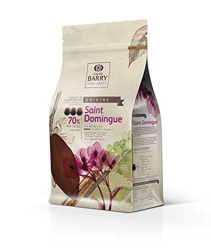Cacao Barry Origine - 70% Saint Domingue Chocolate Negro Cobertura (pistoles) 1kg