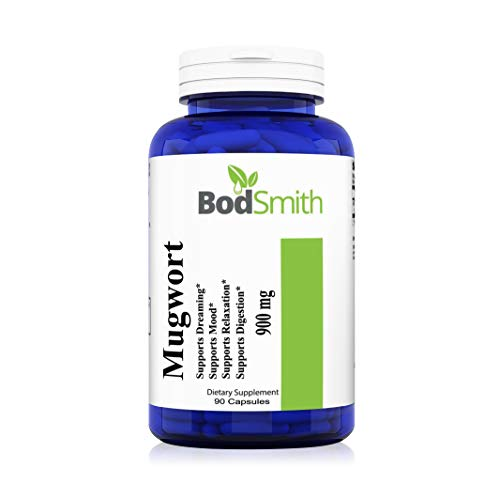 Mugwort 900mg - 90 Capsules - Made in USA -Supports Mood, Dreaming, Relaxation, Digestion and Joints. Non GMO