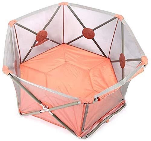 Cxjff Baby Laufstall Hexagonal Designer-Zaun for Baby-Kleinkind-Kinder einfach zu tragen Stabile Struktur Nützliche Area1.4Square Meter (Farbe: Pink) (Color : Pink)