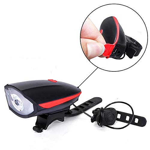 Ljmm888 Bicycle Headlight Mountain Bike USB Charging Charged Horn Glare LED Flashlight Cycling Riding Equipment(Red)