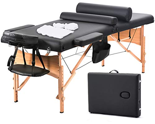 BestMassage Massage Table Massage Bed Spa Bed 73 Inch Heigh Adjustable 2 Fold Portable Massage Table...