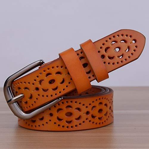 LOCOTECH Cinturón para mujer, Naranja, 105 cm