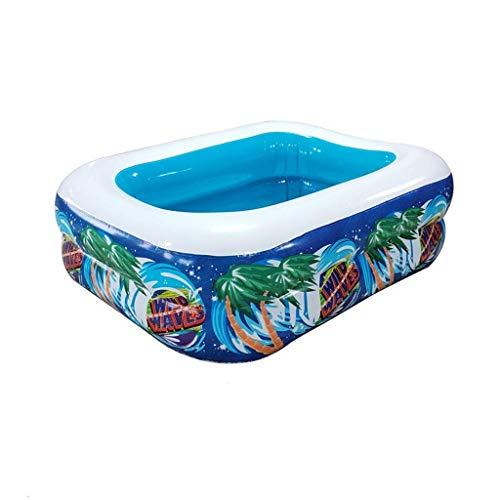 Piscina, cubierta Juguete Piscina del baño del bebé inflable rectangular piscina jardín y terraza resistente al desgaste Ball Pool Family Park Agua (Tamaño: 130 * 85 * 45 cm) kairui (Tamaño: 120 * 80