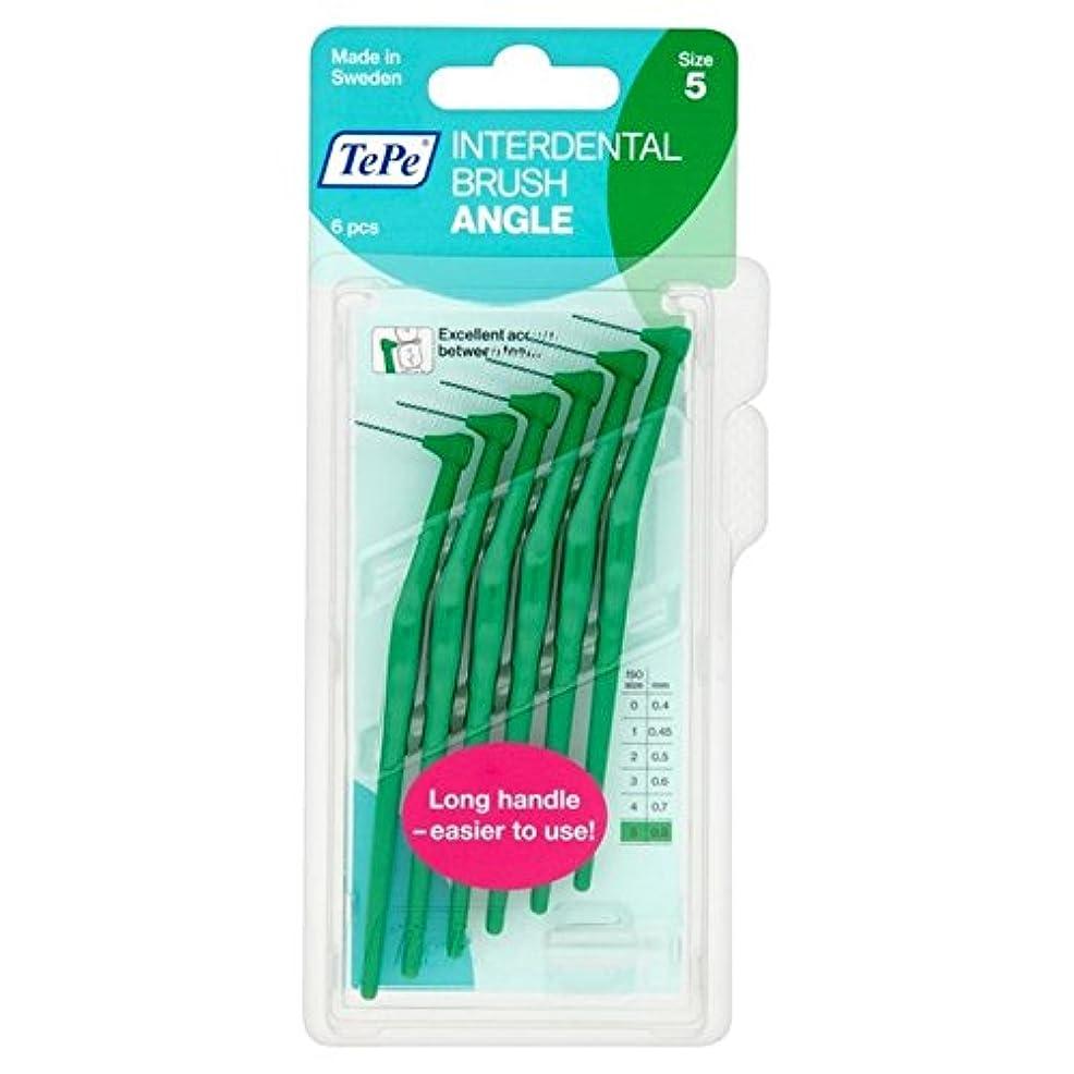 怠惰まだ平和TePe Angle Green 0.8mm 6 per pack - パックあたり6 0.8ミリメートル緑テペ角度 [並行輸入品]