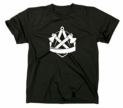 Zimmerer Handwerk Zunft Logo T-Shirt, L, schwarz