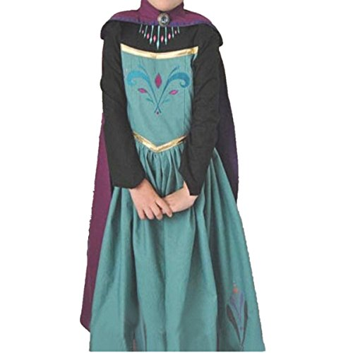 Ramonala Eiskönigin Prinzessin Kostüm Kinder Glanz Kleid Mädchen Weihnachten Verkleidung Karneval Party Halloween Fest, Blau und Lila, Gr. 130= Körpergröße 130cm