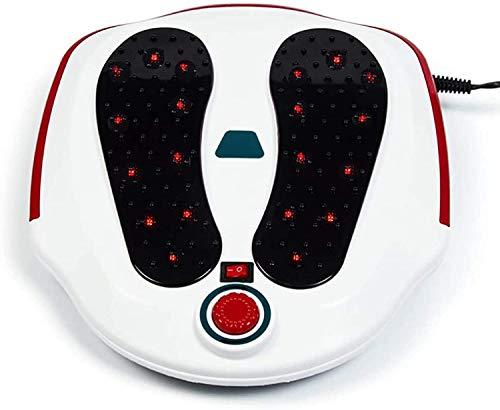 MYJ Multifunktionaler Kreislauf-Booster-Muskelstimulator kann den elektromagnetischen Fußmassagegerät mit elektrischem Kreislauf mit Elektrodenpolstern für Füße und Beine verbessern,Weiß