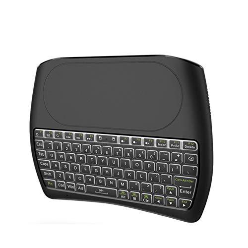 WZPG Mini Teclado inalámbrico, Touchbo táctil de Mini Teclado Mini Teclado de 2.4G, Teclado Bluetooth de retroiluminación, FORTV/Caja/Android
