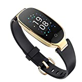 Zuoli Fitness Tracker, Women Smart Fitness Watch, Heart Rate Monitor Smart Bracelet IP67 Waterproof Smart Bracelet with Health Sleep Activity Tracker Pedometer for Smartphone(Black)