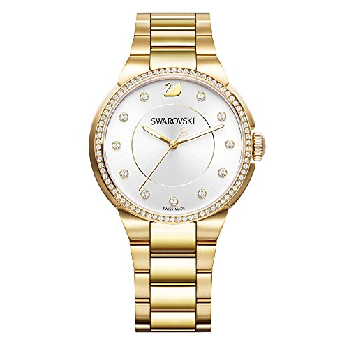 Swarovski City Yellow Gold Tone Armbanduhr