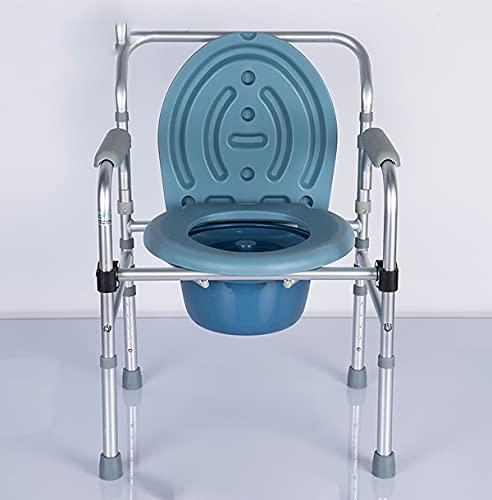 MTYQE Silla Orinal,Asiento de Seguridad Plegable, Ajustable en Altura, portátil, fácil de transferir, Ahorro de Espacio, se Aplica a Adultos, discapacitados, Ancianos