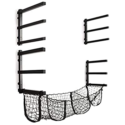 CLEAR STYLE Lumber Rack Wood Storage 6 Levels up to 260LBS Perfect for Wood Organized Including Cuts Off Basket Storage