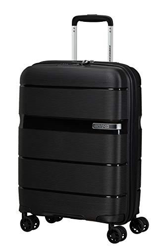 American Tourister Linex Hand Luggage Small (55 cm - 34 L), Vivid Black (Black)