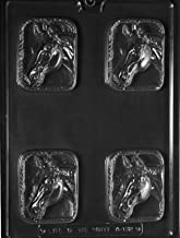 Grandmama's Goodies A132 Horse Head Bar Chocolate Candy Soap Mold with Exclusive Molding Instructions