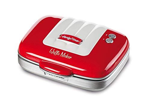 Ariete Maker Waffle, 700 W, Piastre antiaderenti, Rosso