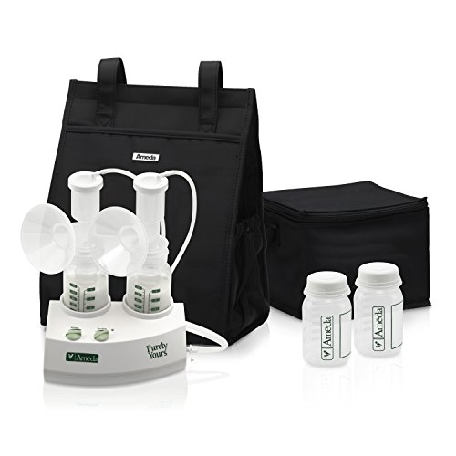 Ameda Purely Yours Double Electric Breast Pump White, Includes: Breast Pump,...