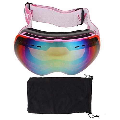 Lzdingli Equipamiento de Esquí Gafas de Nieve Tabla de Snowboard Gafas Capas Dobles Antiniebla for Hombres Mujeres Niños Chicas Niños Myope para los Amantes del Esquí (Color : Pink)