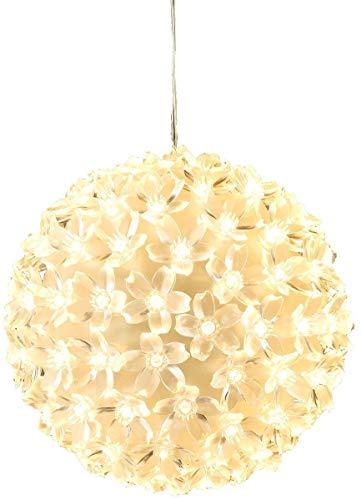 Bambelaa! 100er LED Lichterkugel Leuchtkugel warmweiss Weihnachtsdeko Ball Weihnachtsbeleuchtung Weihnachten ca 15 cm