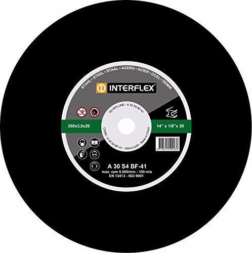 Preisvergleich Produktbild 10x Interflex Trennscheiben SET für Metall Stahl 350 x 20mm Metalltrennscheibe INOX Kunstharz