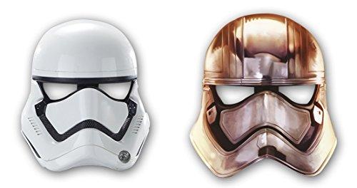 Star Wars Sturmtruppler 6 Papier Masken für Party Geburtstag Mottoparty