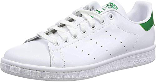 adidas Stan Smith, Zapatillas de Gimnasia para Hombre, Blanco (Ftwrwhite/Core White/Green Ftwrwhite/Core White/Green), 42 EU