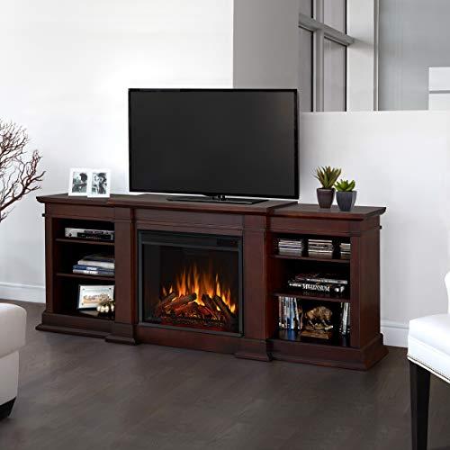 Real Flame Fresno Electric Fireplae Media Fireplace, Large, Dark Walnut