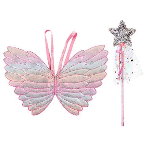 Siwetg Carino Bambini Costumi Performance Puntelli Gradiente Colore Principessa Angelo Ali Fata Stick Bambini Vestire Giocattoli