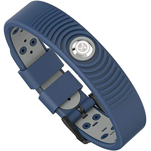 ProExl 18K Sports Magnetic Bracelet - Waterproof - Breathable Strap - Super Strength - Arthritis Relief (Blue Gray)