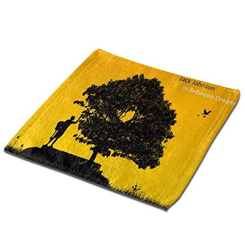 Yuanmeiju Toalla Cuadrada Jack Johnson in Between Dreams Towels Microfiber Quick Dry Towel Soft Washcloths Square Towel for Bathroom Fitness Hotel