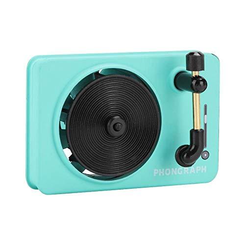 Mugast Autogeurmachine, retro platenspeler vorm, luchtverfrisser, aromatherapie reinigingsapparaat aroma diffuser met vaste geurtabletten voor voertuig, groen