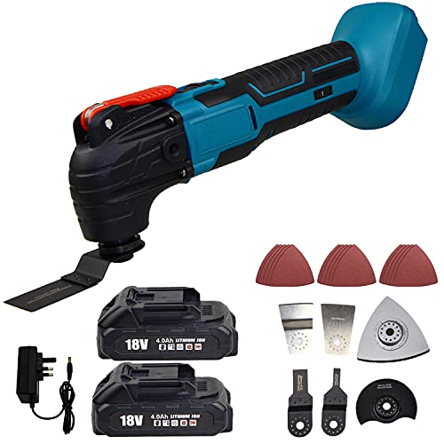 18V Multi Tool Oscillating Multitools Multifunction Cordless Brushless with 2 Pack 4.0 Battery Lithium Ion and 22PCS Accessories for Makita TM30DZ …