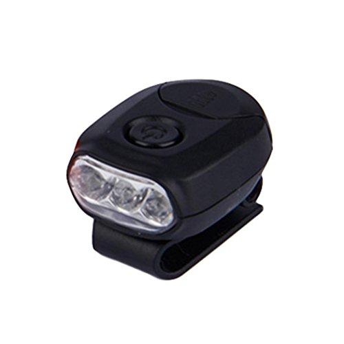 funie LED Headlamp Cap Light 90gradi Rotary pesca cappello innesto lampada lanterna, Nero, 3.8cm x 2.8cm/1.49' x 1.1'