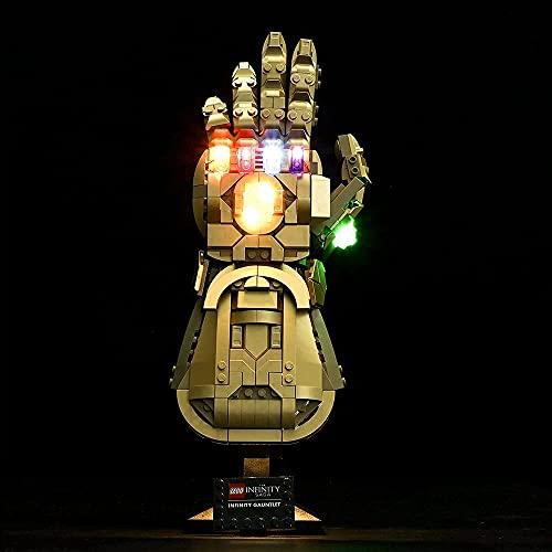 FanMei Led Beleuchtung Nachrüst Beleuchtungsset, Kompatibel Mit Lego 76191 Unlimited Handschuhen, USB Netzteil (ohne Lego Modell)