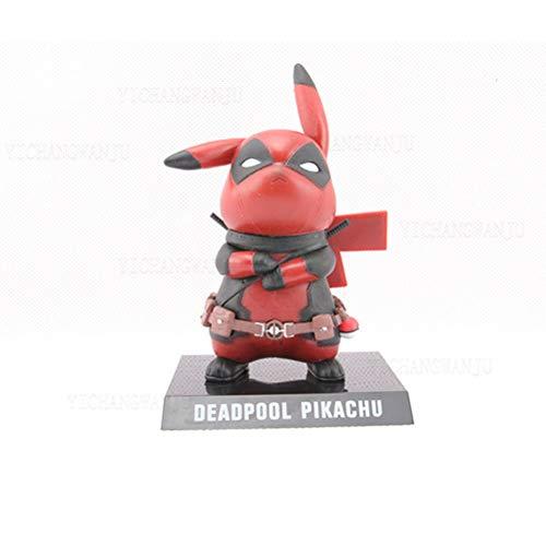 NXHJSSS 1 figurine Pokémon Pikachu Deadpool Cosplay en PVC Figurine Figurine Figurine Modèle Jouets Cadeaux Vacances Cadeau de Noël