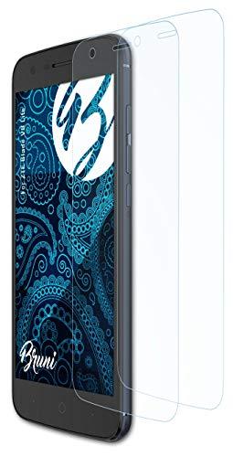 Bruni Schutzfolie kompatibel mit ZTE Blade V8 Lite Folie, glasklare Bildschirmschutzfolie (2X)