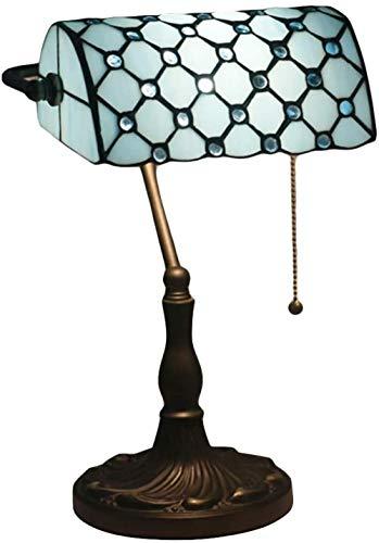 Tiffany Stil Banker Lampe Europäische Barock Tischlampe Glasmalerei Tischlampe handgemachte Wohnzimmer Schlafzimmer Nachttisch Leselampe