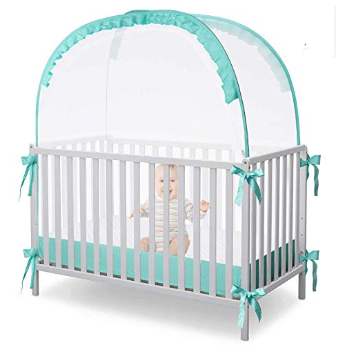 L RUNNZER Baby Safety Crib Tent Pop up Nursery Mosquito Net to Protect Your Baby from Falls and BiteKeep Baby from Climbing Out