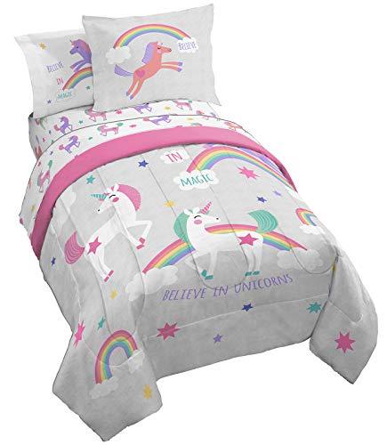 Jay Franco Trend Collector Believe 5 Piece Twin Bed Set - Includes Comforter & Sheet Set - Super Soft Fade Resistant Microfiber Bedding