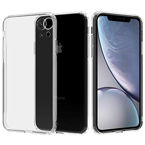 Migeec Hülle für iPhone XR Transparent [Stoßfest] Weiche Silikon [Kratzfest] Flex TPU Bumper handyhülle Durchsichtige Schutzhülle