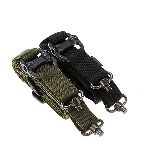 Richwealth 2 Pack Military Tactical Safety Two Points Outdoor Belt Sling Adjustable Strap …