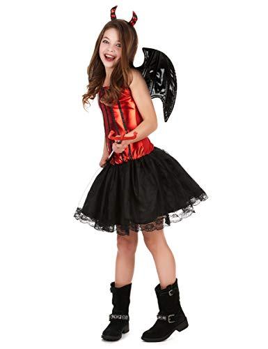 Disfraz de diablesa para niña 10-12 años (164 cm)
