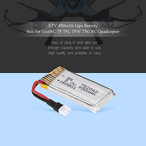 YUNIQUE ESPANA 1 Pieza GoolRC T5 3.7V 450mAh batería Lipo para GoolRC T5 T5C T5W T5G RC Quadcopter