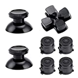 WiMas Aluminium Button Hats Thumb Grip Caps Bullet Buttons AXBY Button D-pad for PS4 7PCS (Black)