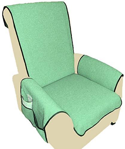 Holzdrehteile Sesselschoner Sesselauflage Sesselbezug Schoner Überwurf Auflage hellgrün